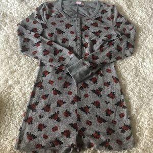 Make + Model Rose Romper Pajamas - small